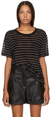 Alexander Wang Black Striped Jersey T-Shirt