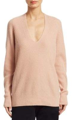 Vince Ribbed Raglan V-Neck Sweater