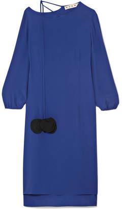 Marni Crepe De Chine Dress - Royal blue