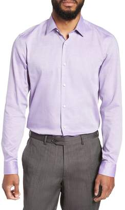 BOSS Slim Fit Isko Micro Pattern Dress Shirt