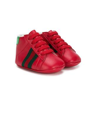 Gucci Kids side stripe boots