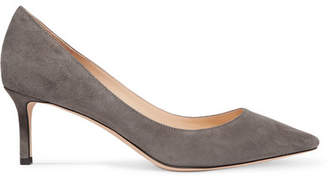 Jimmy Choo Romy 60 Suede Pumps - Gray