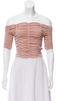 Ronny Kobo Off-The-Shoulder Crop Top w/ Tags