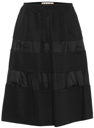 Marni Cotton and linen A-line skirt