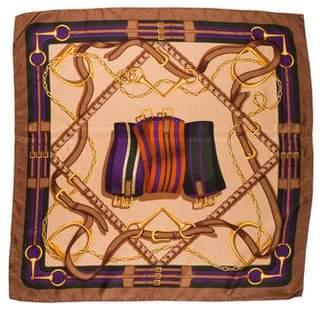 Ralph Lauren Purple Label Silk Printed Scarf