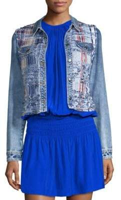 Ramy Brook Gloria Woven Denim Jacket