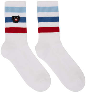 Gucci White Panther Little Slam Socks