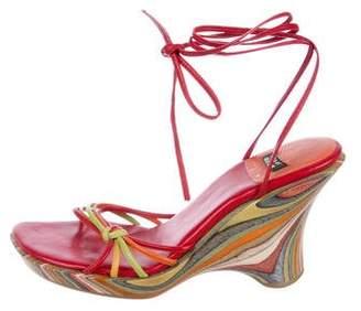 Stuart Weitzman Multistrap Wedge Sandals