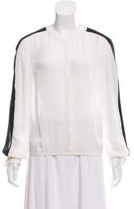 A.L.C. Oversize Silk Blouse
