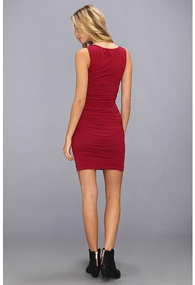 Graham & Spencer Velvet by Kalvin02 Shirred Tank Dress