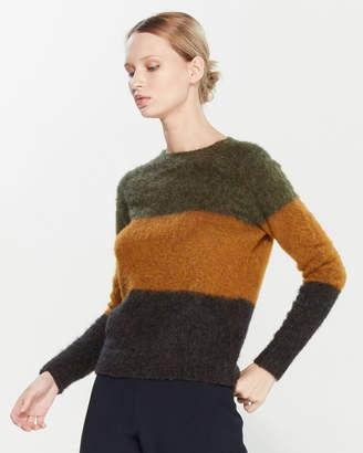 Roberto Collina Color Block Crew Neck Sweater