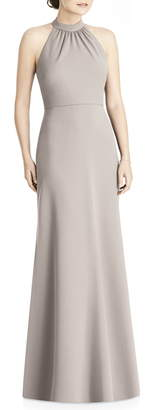 Jenny Yoo JY Crepe Halter Gown