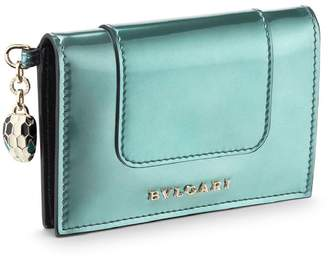 Bvlgari Metallic Leather Serpenti Forever Card Holder