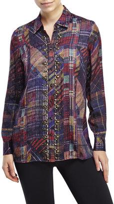 robert graham Multicolor Eileen Silk Shirt $348 thestylecure.com