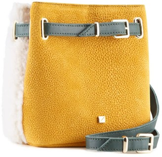 Maria Maleta Belly Bag White Shearling