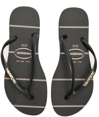 Havaianas Slim Logo Metallic Fine Lines Sandal $32 thestylecure.com