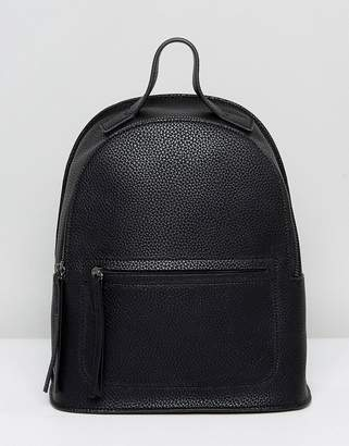 Liquorish Backpack With Front Pocket Detail
