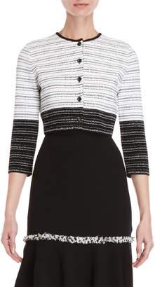 Carolina Herrera Black & White Cropped Cardigan
