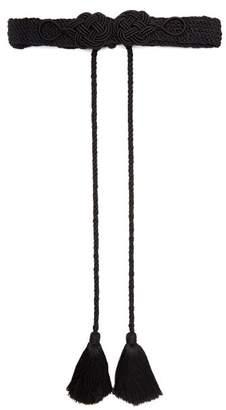 Rebecca De Ravenel - Passementerie Cord Tassel Belt - Womens - Black
