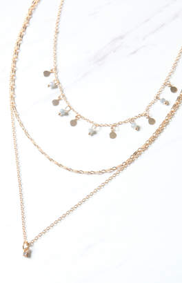 La Hearts Delicate Layered Necklace