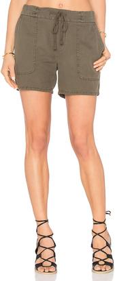 James Perse Cotton Linen Pique Short $175 thestylecure.com