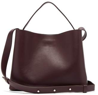 Aesther Ekme - Mini Sac Leather Tote - Womens - Burgundy