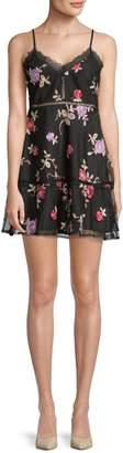 BB Dakota Leean Floral A-Line Dress