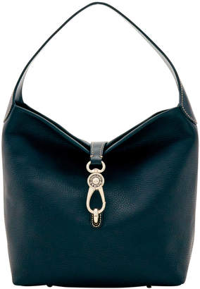 Dooney & Bourke Pebble Grain Small Logo Lock Shoulder Bag