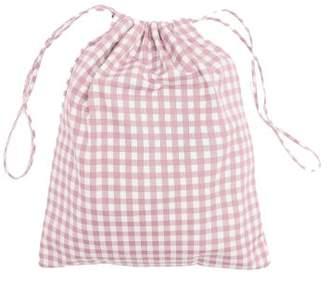 Prada Gingham Drawstring Wash Bag - Womens - Light Pink