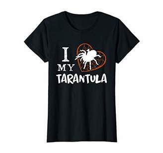 Womens I Love My Tarantula Heart Spider Net Pet Birthday Gift T-Shirt