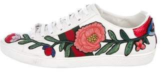 Gucci Floral Leather Sneakers