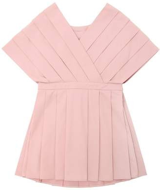 Light Cotton Gabardine Pleated Dress
