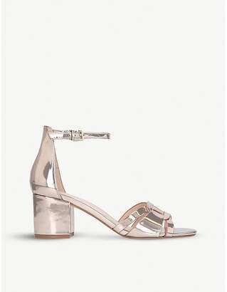 Aldo Agreidia faux-leather metallic sandals