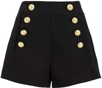 Derek Lam 10 Crosby Tailored Black Sailor Shorts