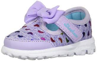 Skechers Baby Girls' 81162N Trainers, (Lavender/Multicolour), 21 EU