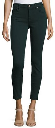 7 For All Mankind The Ankle Skinny Jeans, Dark Forest $169 thestylecure.com