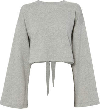 T by Alexander Wang Tie Back Cropped Sweatshirt $295 thestylecure.com