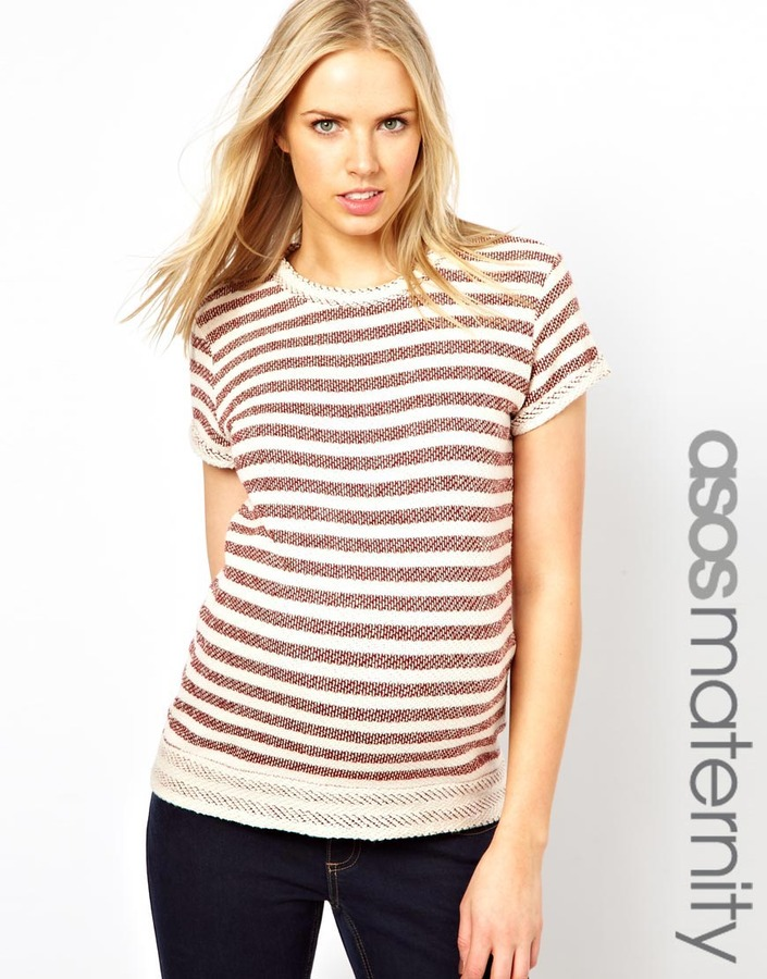 Asos T-shirt With Textured Stripe