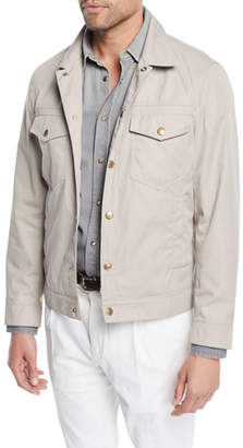 Brunello Cucinelli Men's Technical Denim Jacket