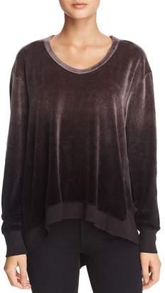 Wilt Asymmetric Ombré Velour Sweatshirt