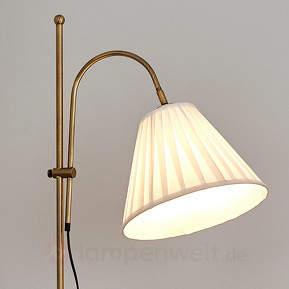 Antik anmutende Stehlampe Leilan mit Stoffschirm