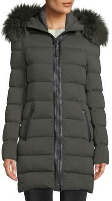 Mackage Calla Hooded Puffer Coat w/ Fur Trim