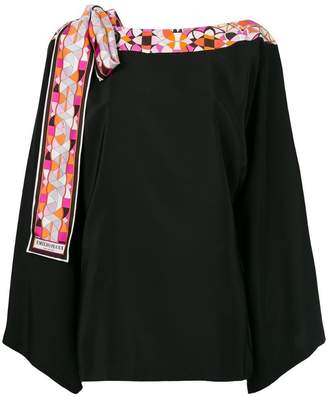 Emilio Pucci scarf-detailed tunic top