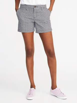 """Old Navy Mid-Rise Everyday Gingham Seersucker Shorts for Women (5"""")"""
