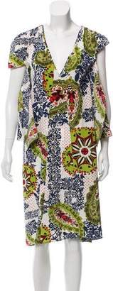 Barbara Bui Printed Silk Midi Dress