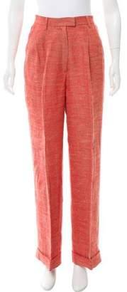 Ines de la Fressange High-Rise Linen Pants