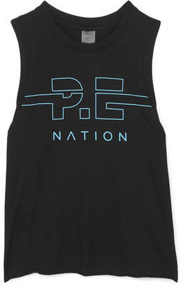 P.E Nation Spike Printed Cotton-jersey Tank