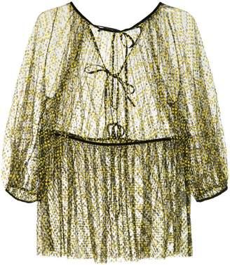 Cecilie Bahnsen flocked tulle blouse