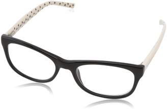 Kate Spade Women's Lettie Letti Rectangular Readers, Black White Dot 2.0