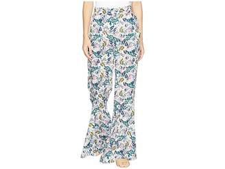 BCBGeneration Ruffle Hem Cropped Palazzo Pants Women's Casual Pants